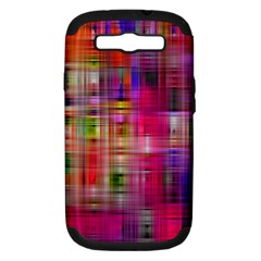 Background Abstract Weave Of Tightly Woven Colors Samsung Galaxy S Iii Hardshell Case (pc+silicone)