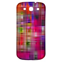Background Abstract Weave Of Tightly Woven Colors Samsung Galaxy S3 S III Classic Hardshell Back Case