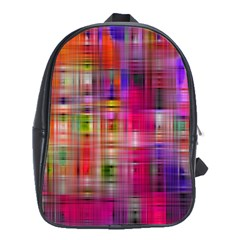 Background Abstract Weave Of Tightly Woven Colors School Bags (XL)