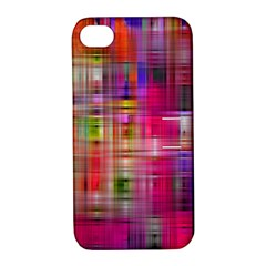 Background Abstract Weave Of Tightly Woven Colors Apple iPhone 4/4S Hardshell Case with Stand