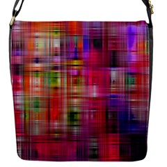 Background Abstract Weave Of Tightly Woven Colors Flap Messenger Bag (S)
