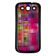 Background Abstract Weave Of Tightly Woven Colors Samsung Galaxy S3 Back Case (Black)