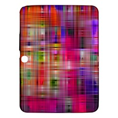 Background Abstract Weave Of Tightly Woven Colors Samsung Galaxy Tab 3 (10.1 ) P5200 Hardshell Case