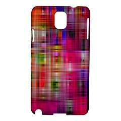 Background Abstract Weave Of Tightly Woven Colors Samsung Galaxy Note 3 N9005 Hardshell Case