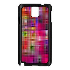 Background Abstract Weave Of Tightly Woven Colors Samsung Galaxy Note 3 N9005 Case (black)