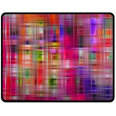 Background Abstract Weave Of Tightly Woven Colors Double Sided Fleece Blanket (Medium)