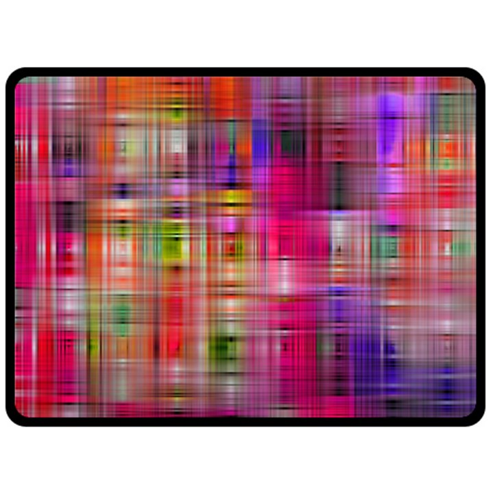 Background Abstract Weave Of Tightly Woven Colors Double Sided Fleece Blanket (Large)