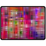 Background Abstract Weave Of Tightly Woven Colors Double Sided Fleece Blanket (Large)  80 x60 Blanket Back