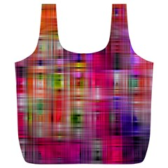 Background Abstract Weave Of Tightly Woven Colors Full Print Recycle Bags (L)