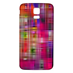Background Abstract Weave Of Tightly Woven Colors Samsung Galaxy S5 Back Case (White)