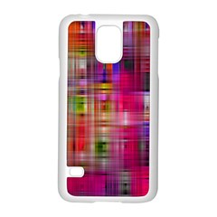 Background Abstract Weave Of Tightly Woven Colors Samsung Galaxy S5 Case (White)