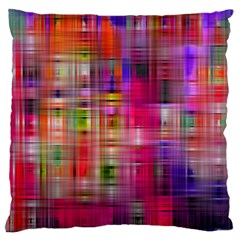 Background Abstract Weave Of Tightly Woven Colors Large Flano Cushion Case (One Side)
