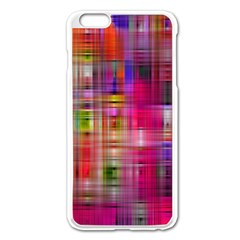 Background Abstract Weave Of Tightly Woven Colors Apple iPhone 6 Plus/6S Plus Enamel White Case