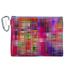 Background Abstract Weave Of Tightly Woven Colors Canvas Cosmetic Bag (xl)