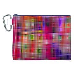 Background Abstract Weave Of Tightly Woven Colors Canvas Cosmetic Bag (XXL)