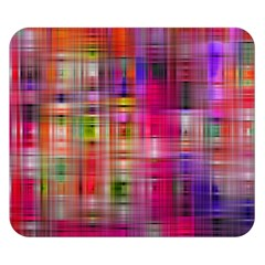Background Abstract Weave Of Tightly Woven Colors Double Sided Flano Blanket (Small)