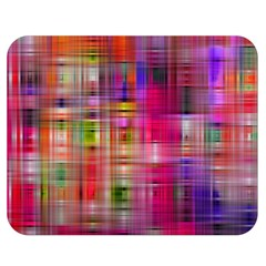 Background Abstract Weave Of Tightly Woven Colors Double Sided Flano Blanket (Medium)