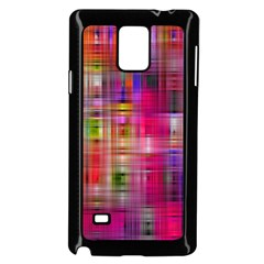 Background Abstract Weave Of Tightly Woven Colors Samsung Galaxy Note 4 Case (Black)