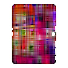 Background Abstract Weave Of Tightly Woven Colors Samsung Galaxy Tab 4 (10.1 ) Hardshell Case