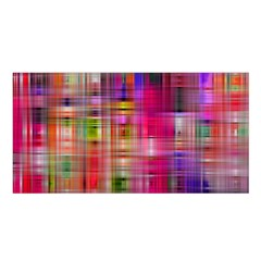 Background Abstract Weave Of Tightly Woven Colors Satin Shawl