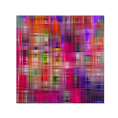 Background Abstract Weave Of Tightly Woven Colors Small Satin Scarf (Square)