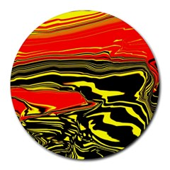 Abstract Clutter Round Mousepads