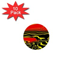 Abstract Clutter 1  Mini Buttons (10 Pack)