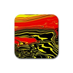 Abstract Clutter Rubber Square Coaster (4 Pack)