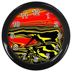 Abstract Clutter Wall Clocks (Black)