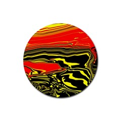 Abstract Clutter Rubber Coaster (round)