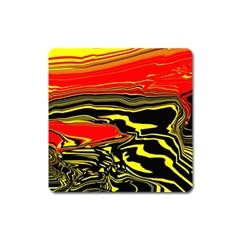 Abstract Clutter Square Magnet