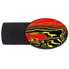 Abstract Clutter Usb Flash Drive Oval (2 Gb)