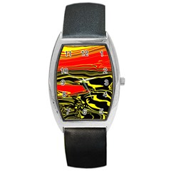 Abstract Clutter Barrel Style Metal Watch