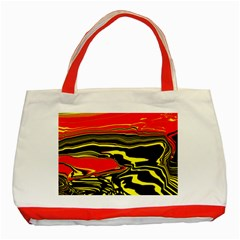 Abstract Clutter Classic Tote Bag (red)