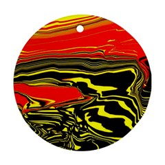 Abstract Clutter Round Ornament (Two Sides)