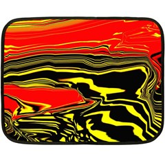 Abstract Clutter Double Sided Fleece Blanket (mini)