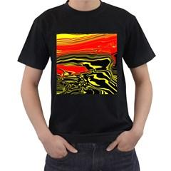 Abstract Clutter Men s T Shirt (black)