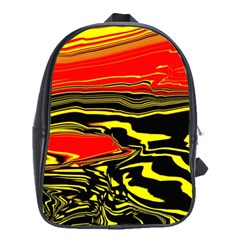 Abstract Clutter School Bags(large)
