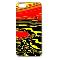 Abstract Clutter Apple Seamless iPhone 5 Case (Clear)