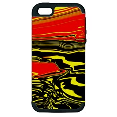 Abstract Clutter Apple iPhone 5 Hardshell Case (PC+Silicone)
