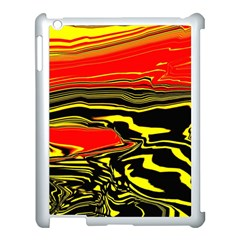 Abstract Clutter Apple iPad 3/4 Case (White)