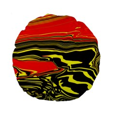 Abstract Clutter Standard 15  Premium Round Cushions