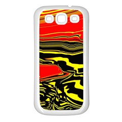 Abstract Clutter Samsung Galaxy S3 Back Case (white)