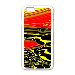 Abstract Clutter Apple iPhone 6/6S White Enamel Case