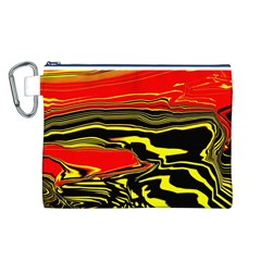 Abstract Clutter Canvas Cosmetic Bag (L)