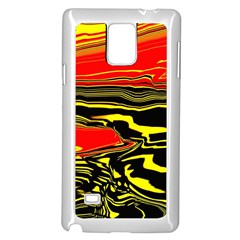Abstract Clutter Samsung Galaxy Note 4 Case (White)