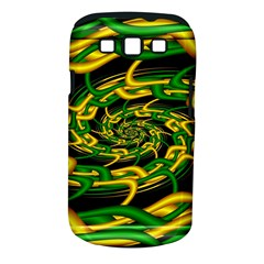 Green Yellow Fractal Vortex In 3d Glass Samsung Galaxy S Iii Classic Hardshell Case (pc+silicone)