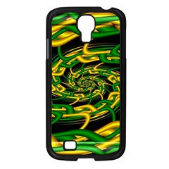 Green Yellow Fractal Vortex In 3d Glass Samsung Galaxy S4 I9500/ I9505 Case (Black)