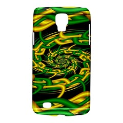 Green Yellow Fractal Vortex In 3d Glass Galaxy S4 Active