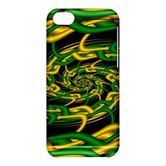 Green Yellow Fractal Vortex In 3d Glass Apple iPhone 5C Hardshell Case